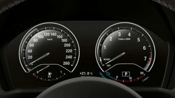 BMW X2 xDrive25e Instrumentenkombination