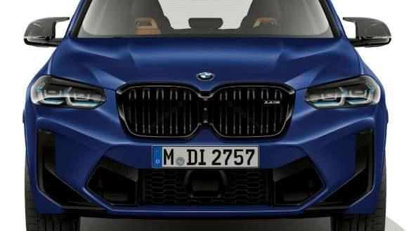 BMW X3 M Competition F97 LCI Facelift 2021 Frozen Marina Bay Blau metallic Frontdesign Frontansicht